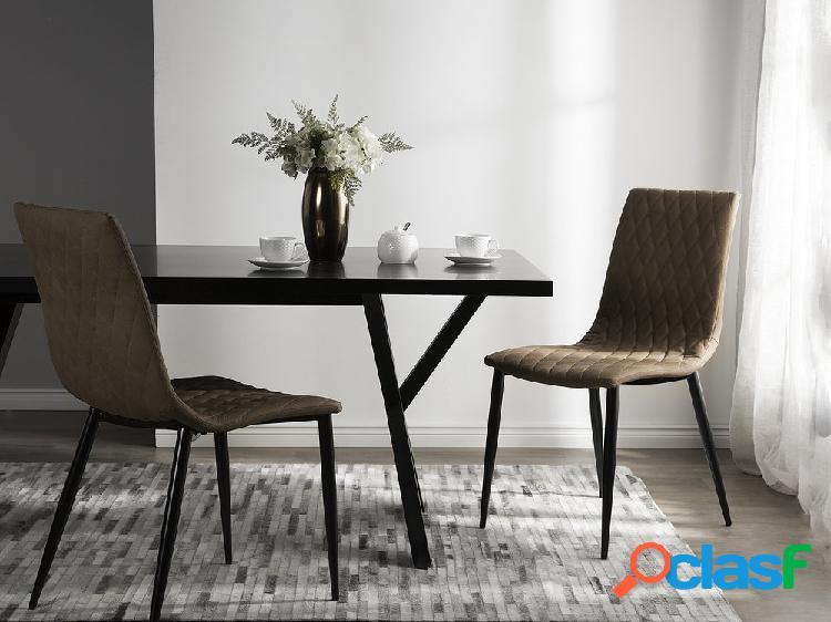 Conjunto de 2 cadeiras na cor marrom claro - montana
