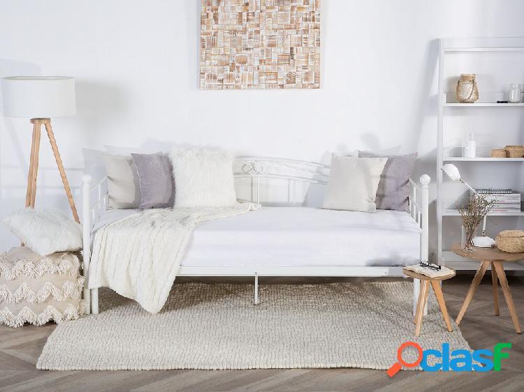 Cama de metal branca 90/180 x 200 cm tulle