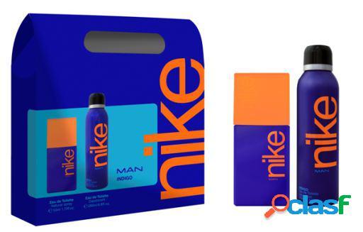 Nike eau de toilette man indigo vapo 50 ml + conjunto deo vapo 200 ml
