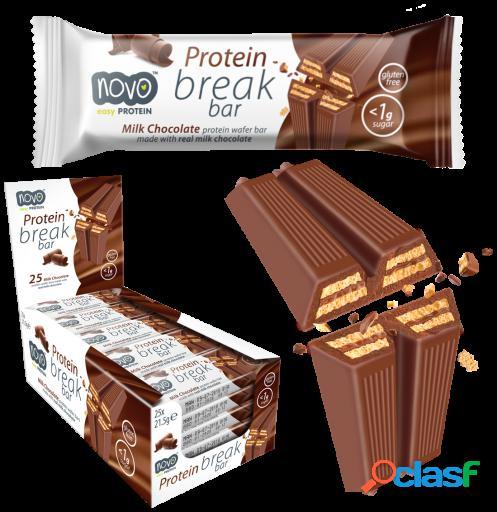 Novo proteína break bar chocolate 25 barritas