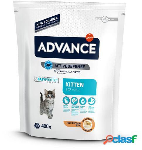 Advance kitten frango e arroz 8x400 gr