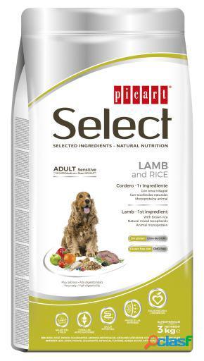 Picart select adult cordeiro e arroz 3 kg
