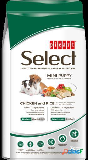 Picart select puppy mini frango e arroz 3 kg
