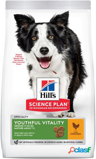 Hill's science plan +7 youthful vitality medium pollo 14 kg