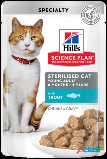 Hill's science plan esterilizado young adult trucha 12x85 gr