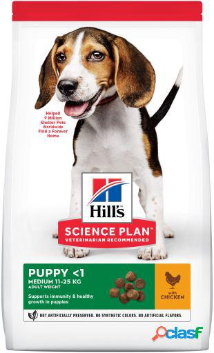 Hill's science plan puppy medium pollo 1 kg