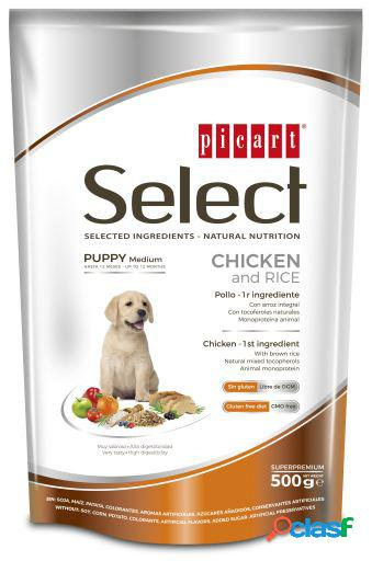 Picart select puppy frango e arroz 500 gr