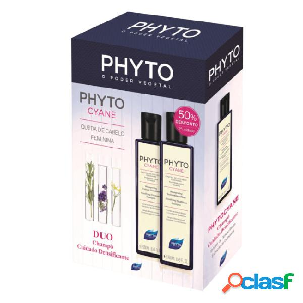 Phyto phytocyane duo champô fortificante 2x250ml