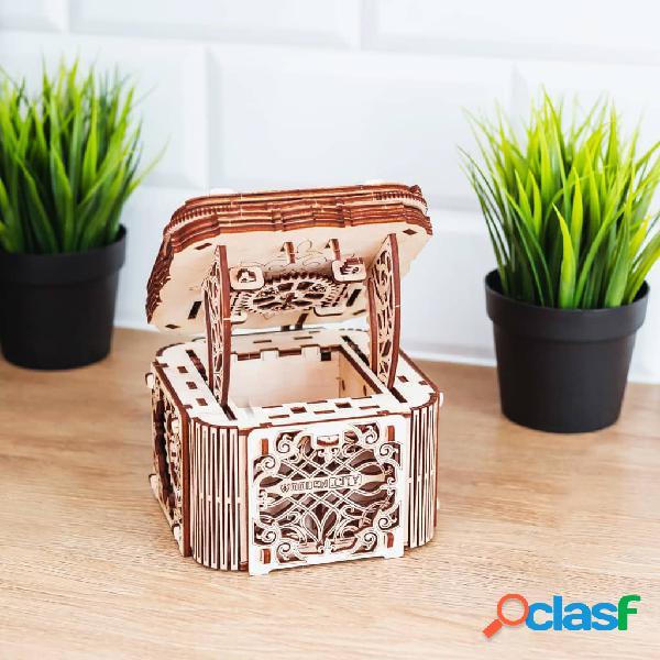 WOODEN CITY Kit/maqueta caixa misteriosa à escala madeira 2