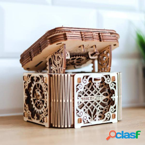 WOODEN CITY Kit/maqueta caixa misteriosa à escala madeira 3