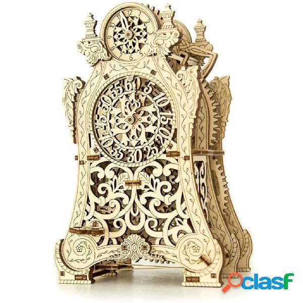 Wooden city kit/maqueta relógio mágico à escala madeira