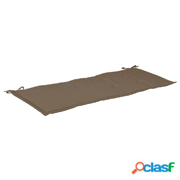 vidaXL Almofadão p/ banco de jardim 120x50x3 cm cinzento-acastanhado 1