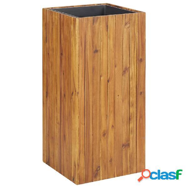 vidaXL Vaso de jardim 43,5x43,5x90 cm madeira de acácia maciça
