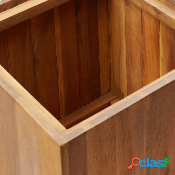 vidaXL Vaso de jardim 43,5x43,5x90 cm madeira de acácia maciça 1