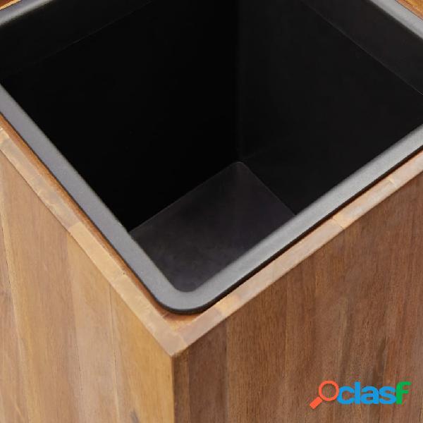 vidaXL Vaso de jardim 43,5x43,5x90 cm madeira de acácia maciça 2