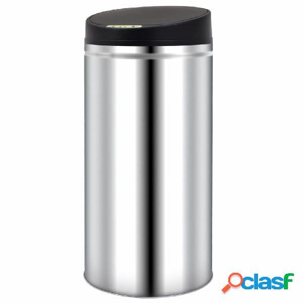vidaXL Caixote do lixo com sensor automático 52 L aço inoxidável