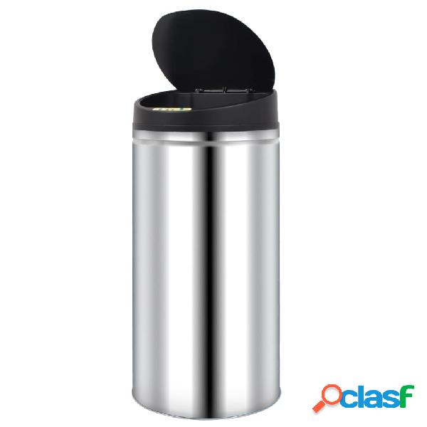 vidaXL Caixote do lixo com sensor automático 52 L aço inoxidável 2