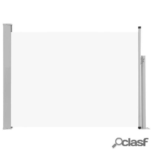 vidaXL Toldo lateral retrátil para pátio 100x500 cm creme 1