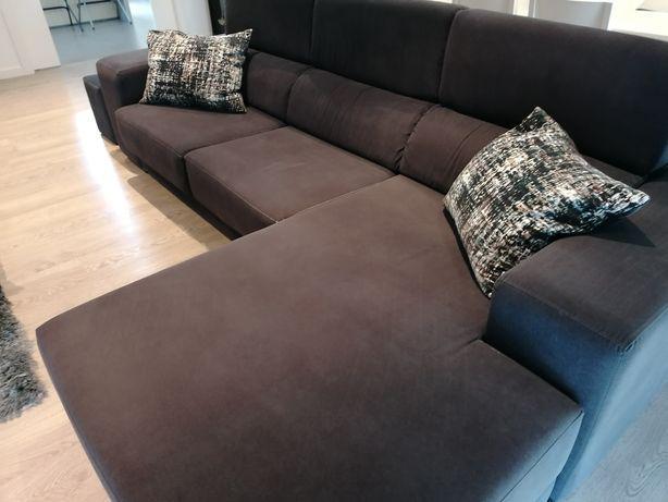 Sofá com chaise longue em óptimo estado