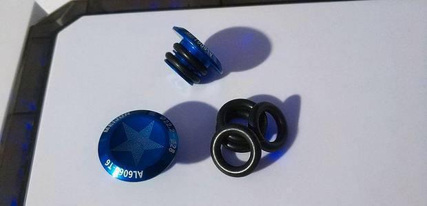 Terminais guiador mtb, bmx, dh alumínio blue