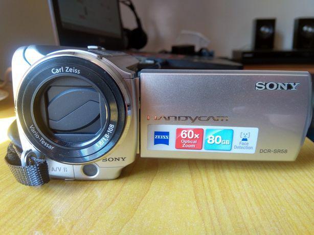 Sony handycam dcr-sr85 (80gb) + bolsa + bateria extra