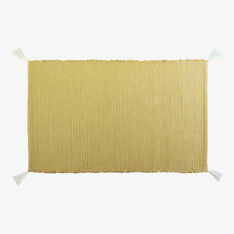 "Tapete liso ""pom pom"" (60x100cm)amarelo claro tapete liso"