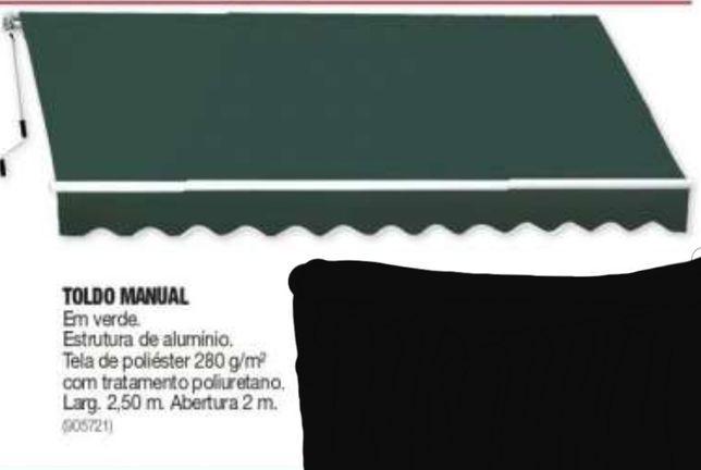 Toldo manual em verde novo