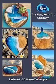 On line Course Resin Art   3D Ocean Technique