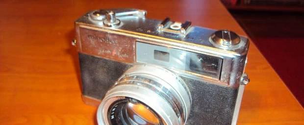 Câmera minolta - clássica de colecção