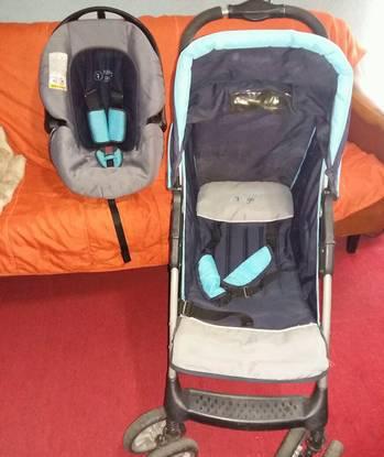 Carrinho bebe + cadeira auto(ovo)
