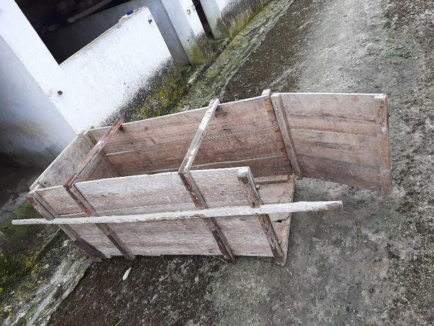 Jaula em madeira para transporte de animais