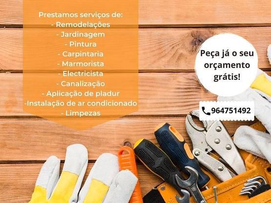 Prestaçao de serviços de obras e manutenção