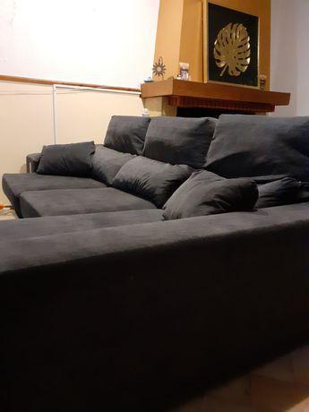 Sofá com chaise longue (costas reclináveis)