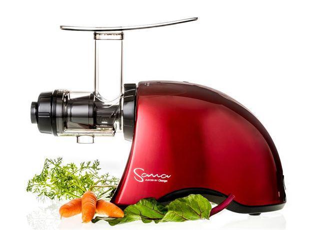Máquina de sumos extrator frutas e vegetais slow juicer