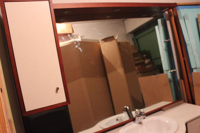 Movel wc com espelho, completo com 1.40 metros de largura
