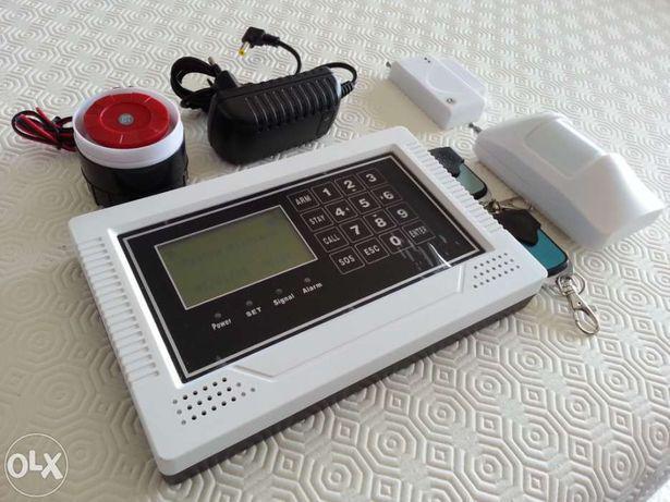 Alarme c/ central gsm wireless ou cabelado sem fios touch
