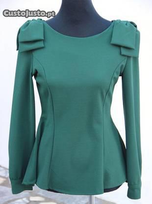 Blusa verde - pouco uso