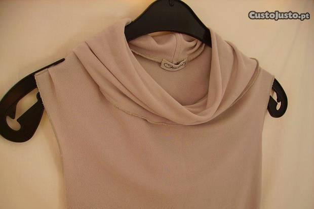 Camisola cinzenta c/gola drapeada origem tamanho s