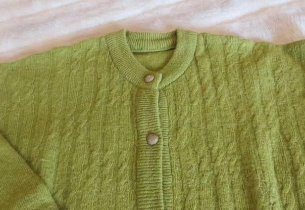 Casaco de malha, verde - tamanho xl