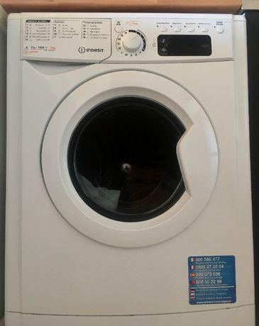 Máquina de lavar e secar roupaindesit 7kg/5kg
