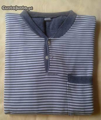 Pijama de homem cor cinza escuro tamanho m