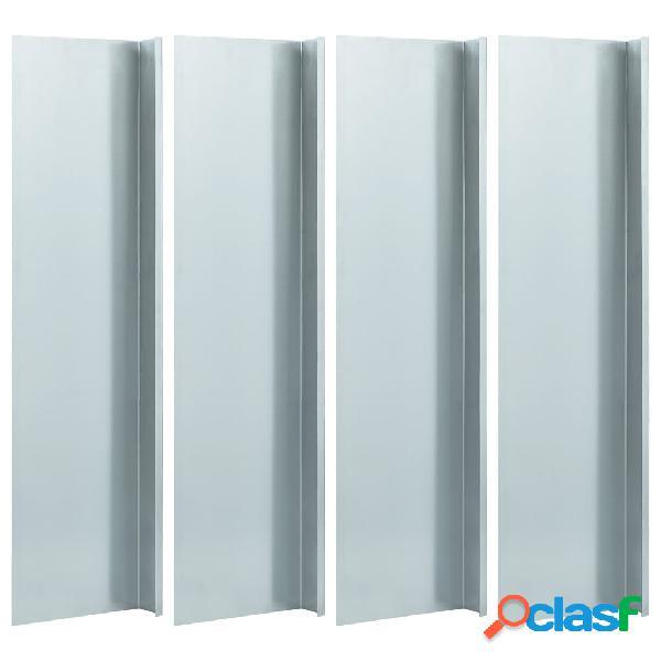 Vidaxl placa anti-caracóis 4 pcs aço galvanizado 50x7x25 cm 0,7 mm