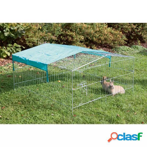 Kerbl recinto p/ animais estimação exterior easy metal prateado 82845
