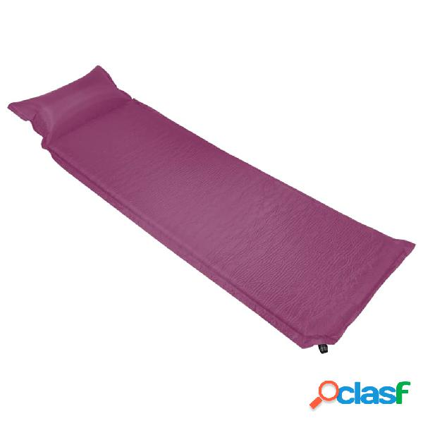 Vidaxl colchão de ar insuflável com almofada 66x200 cm rosa