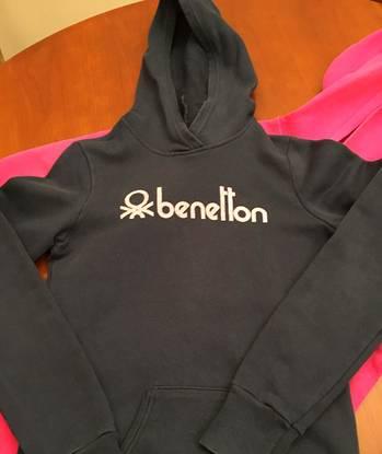 Benetton-sweatshirt com capuz menina 2xl (12 anos)
