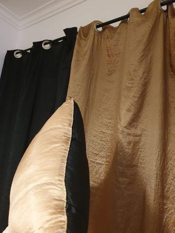 Candeeiro de teto/ candeeiro mesa cabeceira / cortinados e