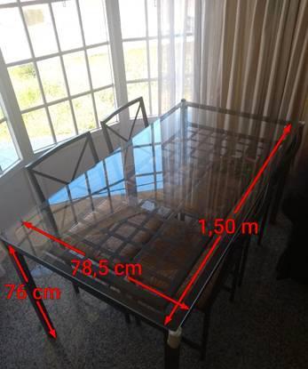 Mesa rectangular ikea granås + 4 cadeiras