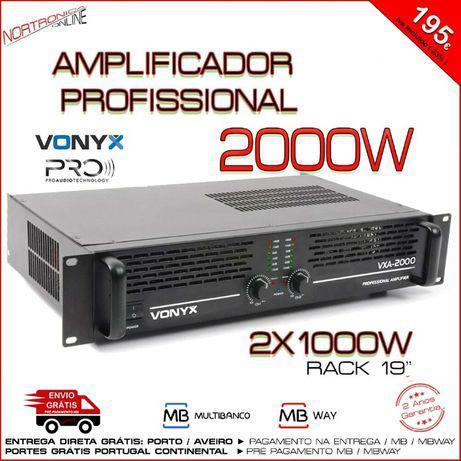 Amplificador profissional pa 2000w tecnologia smt 2 nos