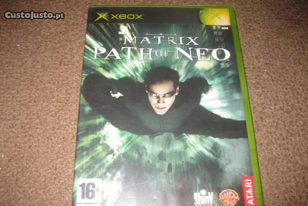 "Jogo ""matrix: path of neo"" para xbox/completo!"