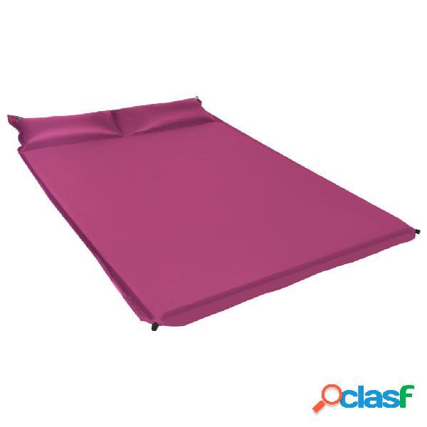 Vidaxl colchão de ar insuflável com almofada 130x190 cm rosa